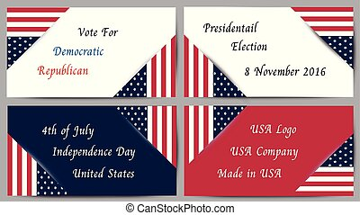 Logo Banner for Presidential election and Social issue in United States of America