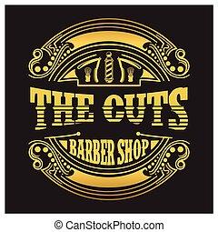 logo, barbershop
