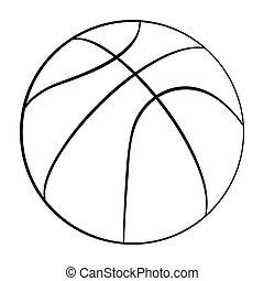 logo, basket-ball, app, icône, icon., conception, plat, volley-ball, vecteur, ui., isolé, white., illustration, toile