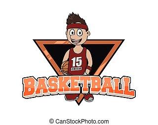 logo, basket-ball, conception, illustration