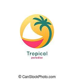 logo, bateau, colorfull