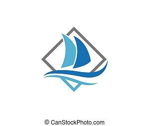 logo, bateau, gabarit, croisière