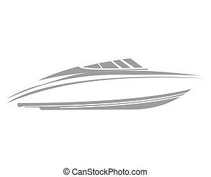 logo, bateau