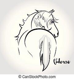 Logo beautiful horse