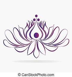 Logo beautiful lotus flower spa massage business id card