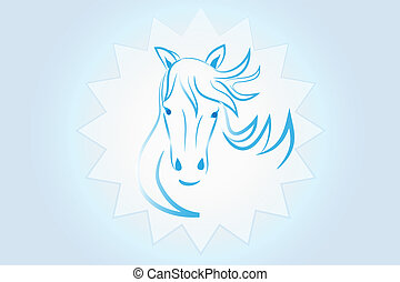 Logo beauty horse head