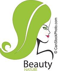 Logo beauty nature girl
