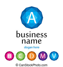 logo, bedrijf, vector, brief
