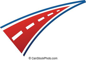 logo, beeld, streep, straat