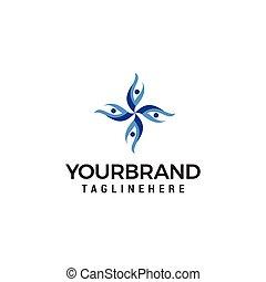 logo, begriff, leute, kommunikation