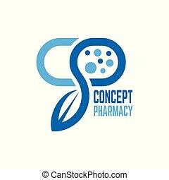 logo, begriff, modern, apotheke