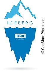 logo, berg, vector, ijs