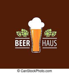logo, bière, vecteur