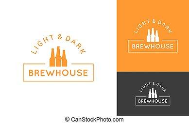 logo, bier, vastgesteld ontwerp, achtergrond