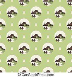 logo, bjerge, mønster