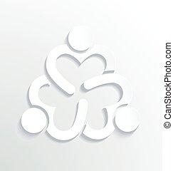 logo, blanc, conception, business, étiquette