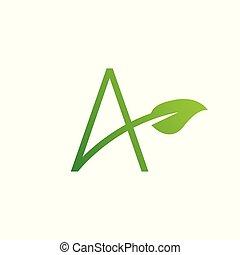 logo, blatt, brief, entwerfen elemente