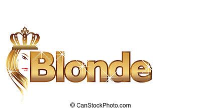 logo, blond