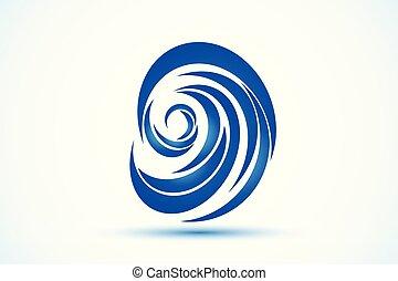 Logo blue beach waves