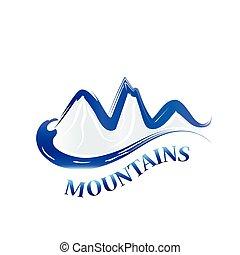 Logo blue mountains watercolor
