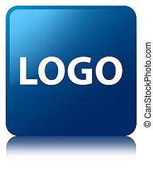 Logo blue square button