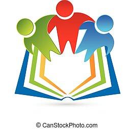 logo, boek