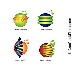 logo, bol, set, pictogram