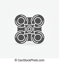 logo, bourdon, noir, ou, icône