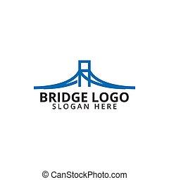 logo, brücke, schablone, ikone