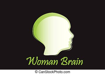 Logo brain woman vector image