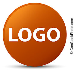 Logo brown round button