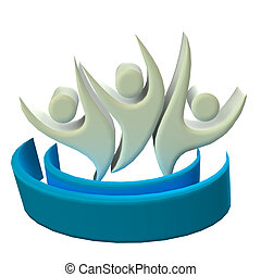 Logo business 3D people icon