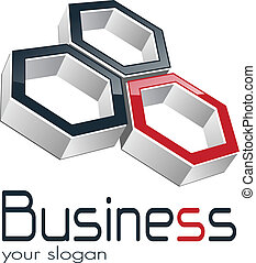 logo business - Logo design for business three hexagons,...