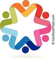 Logo business people icon
