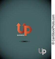 logo business up. Up arrow.