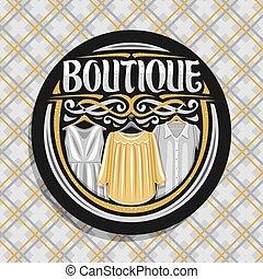 logo, butik, wektor