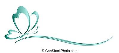 logo stylized butterfly.