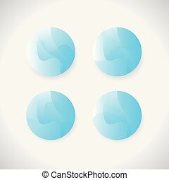 logo button Circle blue 3d vector blue spheres isolated on white background