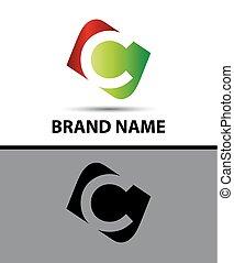 Logo c letter Vector illustration