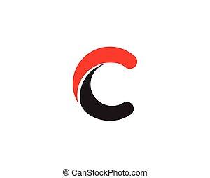 logo, c, lettre, icône
