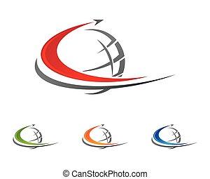 logo, c, plus rapide, lettre, gabarit