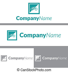 logo, cadre, vélo, conception