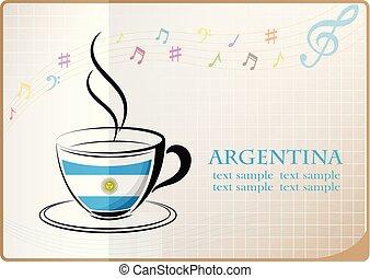 logo, café, fait, argentina signalent