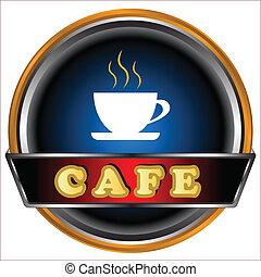 logo, cafe