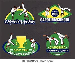 logo, capoeira, set