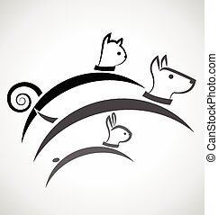 Logo cat dog and rabbit
