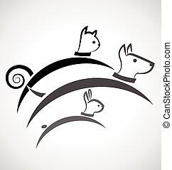 Logo cat dog and rabbit