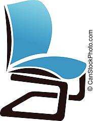 logo, chaise, vecteur, conception, gabarit