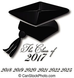 logo, chapeau, remise de diplomes