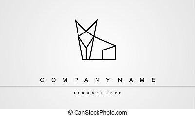 logo, chat, minimaliste